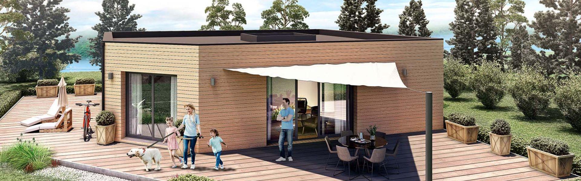 Maison Moderne Avec Patio Interieur alhambra   ami bois, constructeur de maisons en bois