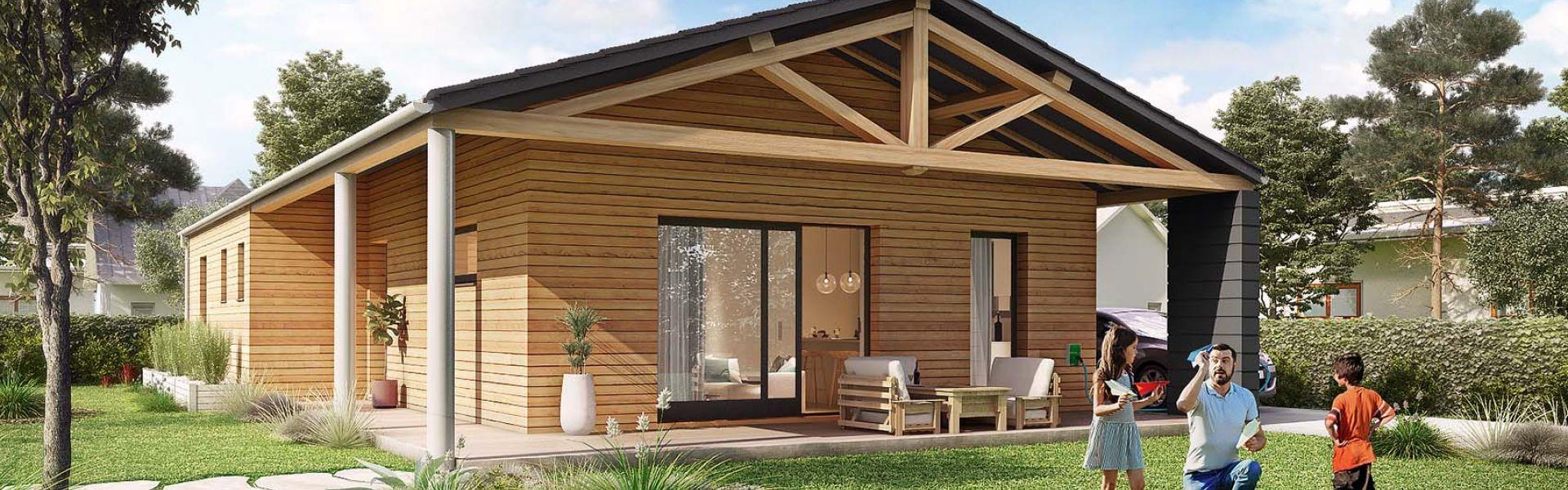 Construction Maison En Pente minéral | ami bois, constructeur de maisons en bois